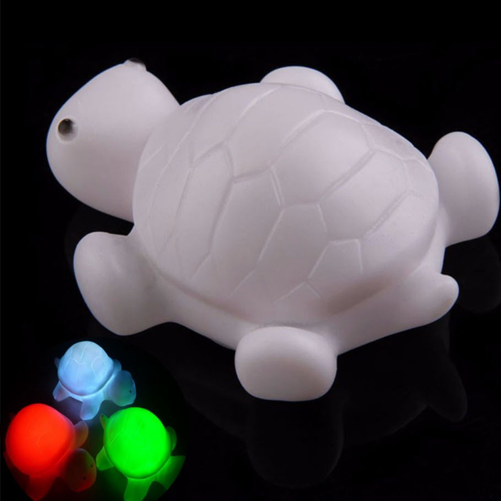 Led Color Change Colorful Turtle Night Light Baby Kids