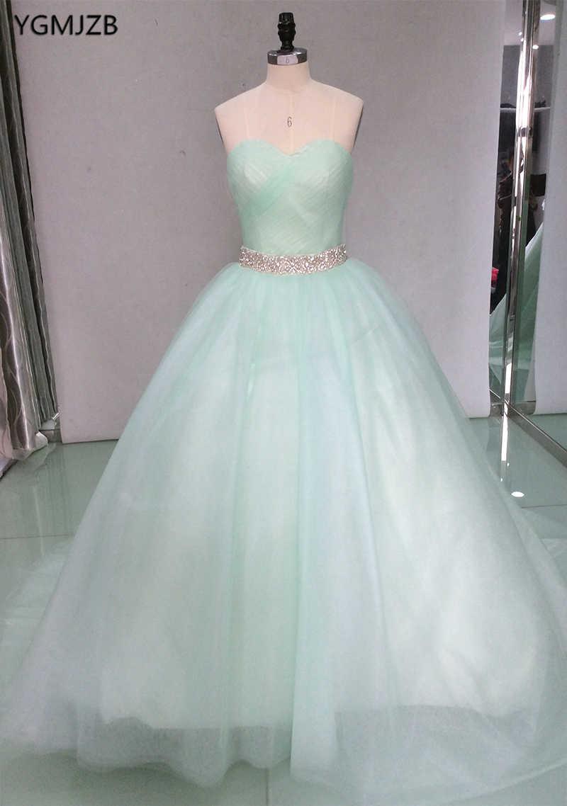 2019 Quinceanera платья бальное платье милые, кристалльные, бисером фатиновое Пышное длинное платье на выпускной; милое детское платье; 16 платья Vestidos De 15 Anos