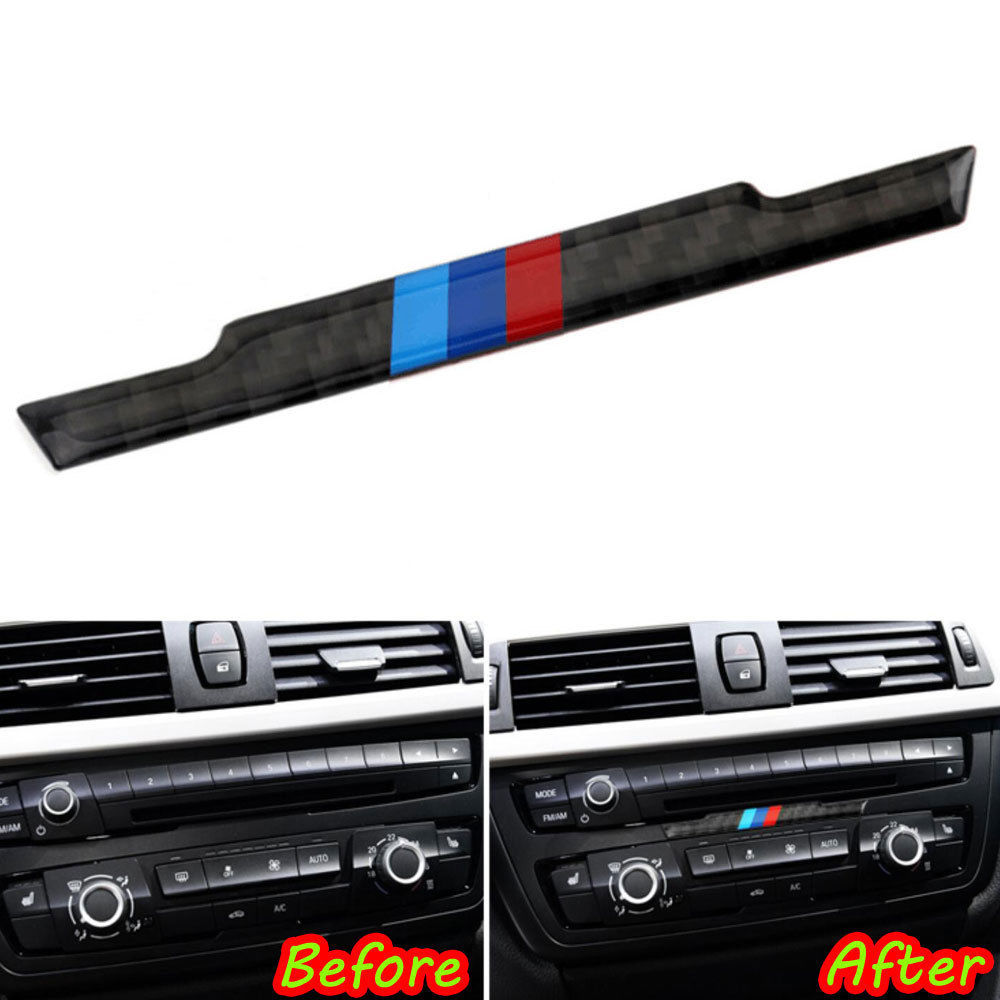 BBQ@FUKA 1pcs Car Interior Center Console Color Body Decal Carbon Fiber Sticker Fit For BMW 3 Series 4 Series F30/32 Car Styling