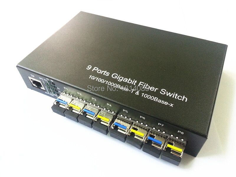 8*GIGA SFP+1*10/100/1000M TX ethernet fiber Switch 8*1310/1550nm - Communication Equipment