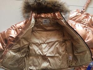 Image 5 - รัสเซียฤดูหนาวใหม่เด็กเสื้อผ้าชุดเด็กหญิงหญิงเป็ดสีขาวลงชุดสกีหนา 30