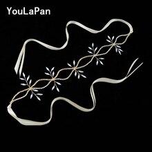 YouLaPan SH74 Wedding Belt Accessories Diamond Women Dress Rhinestone Sash Vine Thin Belts Bridal