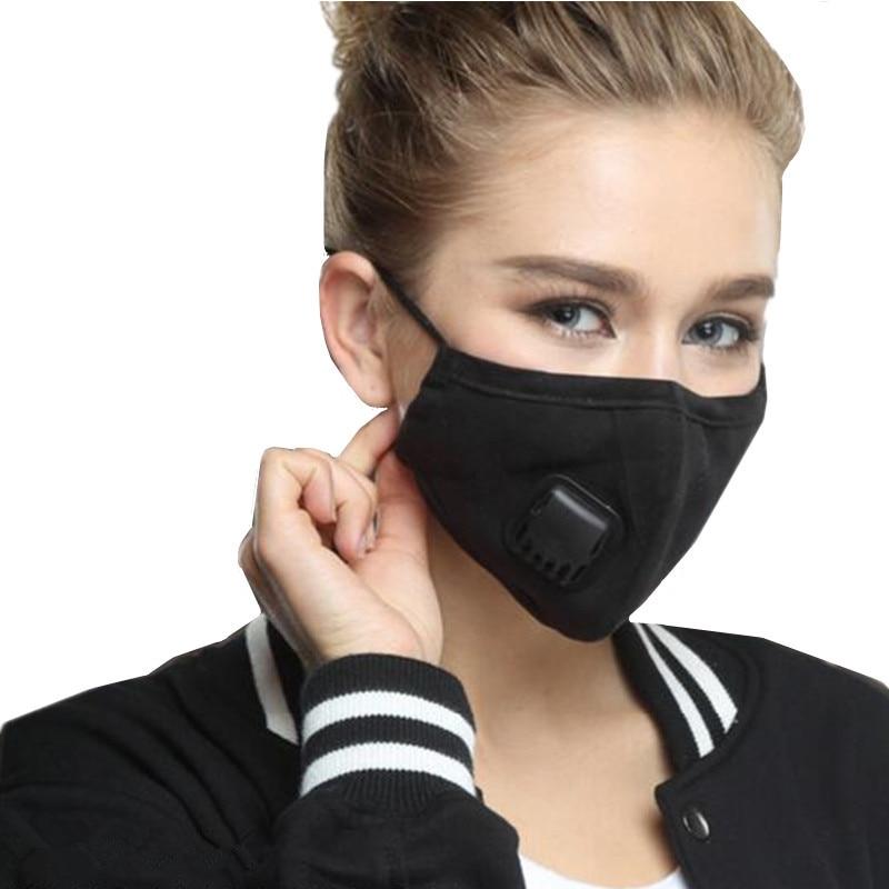 Pm2.5 Antipolvere Anti-nebbia Maschera Caldo Traspirante Freddo Di Guida Gli Uomini E Le Donne Di Inverno Respirazione Cotone Bocca-a Muffola Viso Maschere