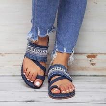 Women Flat Sandals Summer Beach Flip Flops Bohemian Women Buckle Ankle-Wrap Shoes Tassels Casual Summer Shoes sandales femme D25