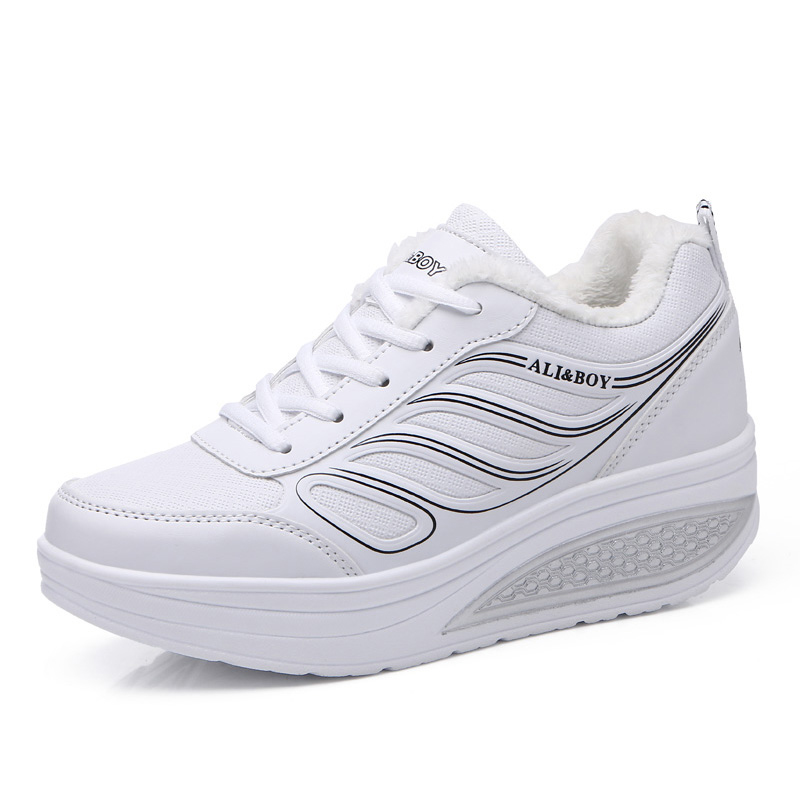 DR.EAGLE Shoe Fitness-Sneakers Wedges Slimming Sports Women Winter Baskets Teni Homme
