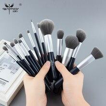 Anmor New Make Up Brushes Set 15 PCS Professional Makeup Brushes Synthetic Hair Foundation Powder Blush Eyeshadow Brush Set