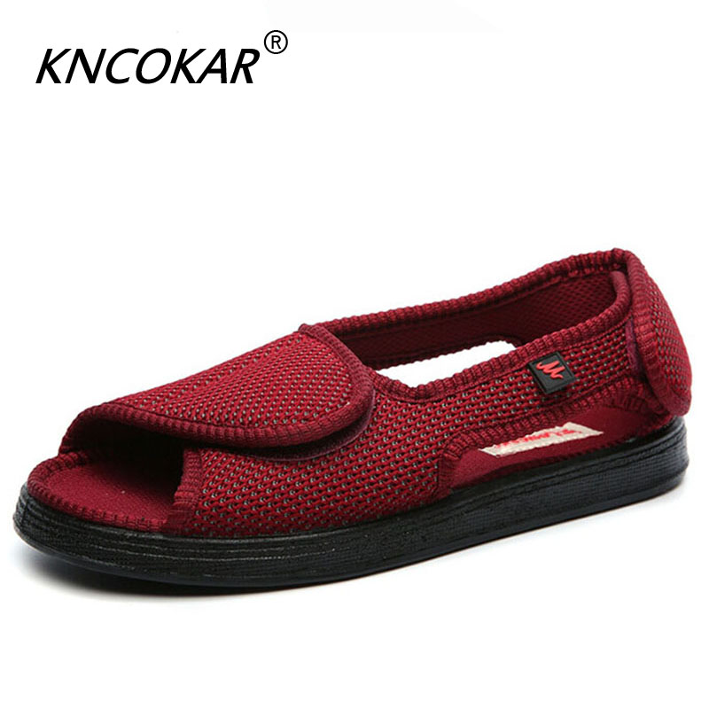 100% Quality Kncokar 2018 Hot Sales Mens Shoes Are Cozy Adjustable And Wide Cotton Cloth Shoes Suitable For Foot Swollen Feet And Fat Feet Men's Boots Shoes