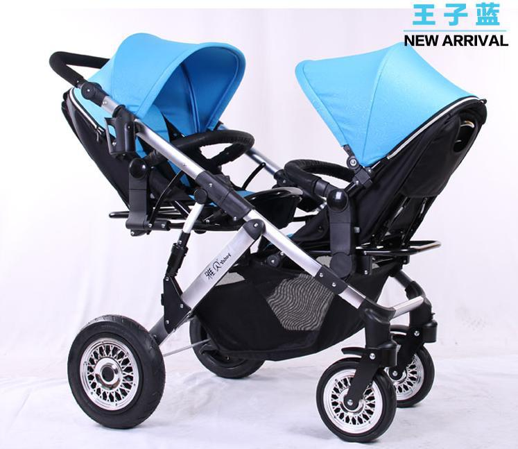 2015 Hot Sale Baby Twins Stroller,Infant Twin Strollers,3 Optional Color,Free Shipping,Nice Quality Luxury Stroller for Twins double stroller red pink blue color twins infant stroller sale kids sleep comfortable more at ease sophisticated technologies