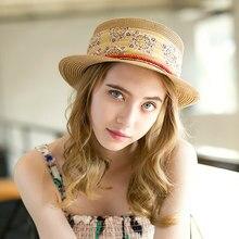 Sedancasesa sol femenina sombrero de verano Sun Protect impresión Floral  paja cuerda sombreros para las mujeres sombreros de pla. 172b721f7bf