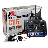 FlySKY FS 6CH 2.4G FS CT6B RC Transmitter & receiver Remote controller 6 channel for Heli/Airplane/Glid/Copter