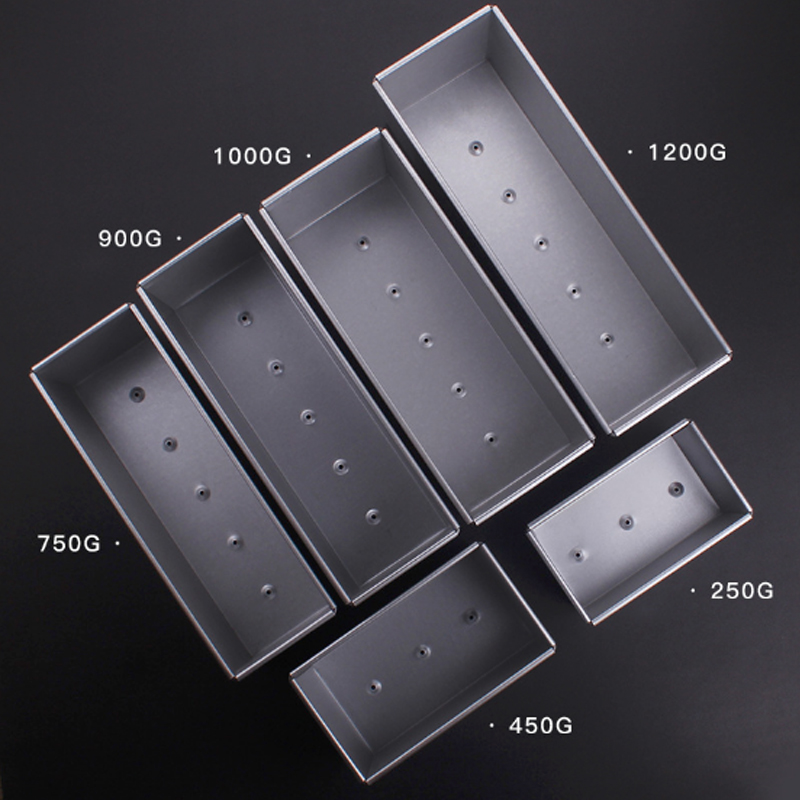250g/450g/750g/900/1000/1200g Aluminum Alloy Toast boxes Bread Loaf Pan cake mold baking tool with lid(China)