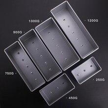 Ящики для тостов из алюминиевого сплава, 250 г/450 г/750 г/900/1000/1200 г, форма для хлеба, булочек, сковородок, инструмент для выпечки с крышкой