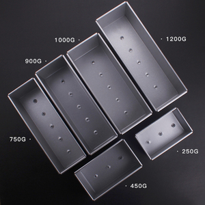 Image 1 - 250g/450g/750g/900/1000/1200g Aluminum Alloy Toast boxes Bread Loaf Pan cake mold baking tool with lid