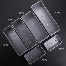 Caixas de brincos de liga de alumínio, 250g/450g/750g/900g/1000/1200g molde de bolo de folha com tampa, ferramenta de cozimento