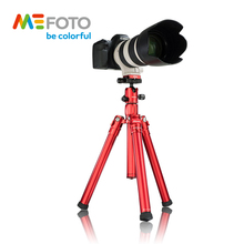 MeFoto MF25 Tripod Reflexed Monopod Selfie Stick Mini Portable Tripod For Camera With Ball Head 5 Section DHL Free Shipping цена