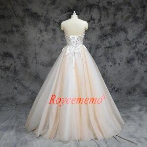 Image 5 - 2019 New arrival kontrast kolor ładny frezowanie suknia ślubna piętro długość suknia ślubna dostosuj zaakceptowane fabryki bezpośrednio