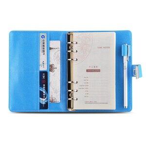 Image 3 - Novo caderno de couro com código de bloqueio diário pessoal negócio grosso bloco de notas espiral personalizado material escolar escritório presente