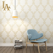 White Textured Wallpaper Roll European Classic 3D Wall paper For Bedroom Vintage Simple Damask Wall papers Home Decor W430
