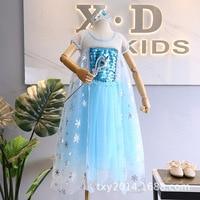Summer 2019 New Girl Ice Snow Qiyuan Elsa Girl Princess Dress 61 Performing Dress