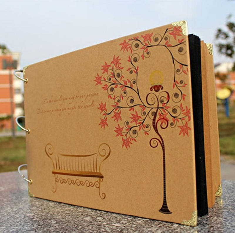 Diy Wedding Album Ideas: Diy Handmade Photo Album Wedding Scrapbooking Craft Paper