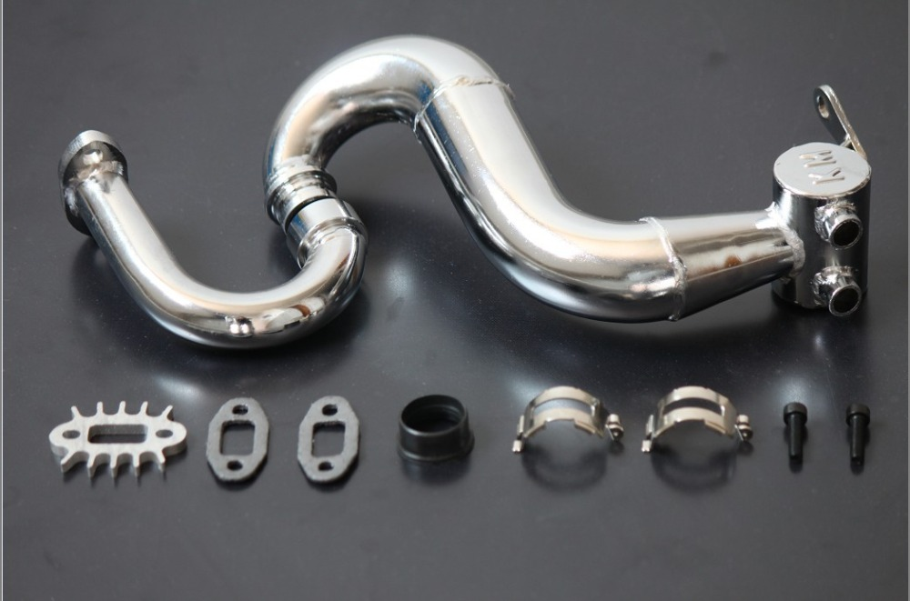 New King Motor Steel THOR Tuned Pipe Fits 1/5 Scale HPI Baja 5B SS 5T 2.0 Rovan new aluminum tuning tuned exhaust pipe for 1 5 hpi km rovan baja ss 5b 5t sc buggy hsp bajer gasoline power