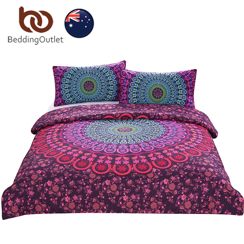 BeddingOutlet Mandala Bedding Posture Million Romantic Soft Bedclothes Plain Twill Boho 3Pcs drap de lit Favorite AU SIZE ...