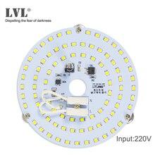 Светодиодный Панель свет 7 W 10 W 18 W 25 W 40 W без мерцания AC 220 V 230 V для потолочный источник света замена круглый модуль светодиодный