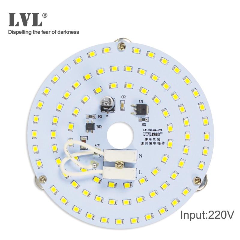 Panel de luz LED 7W 10W 18W 25W 40W sin parpadeo AC 220V 230V para fuente de luz de techo lámpara de Panel redondo cuadrado