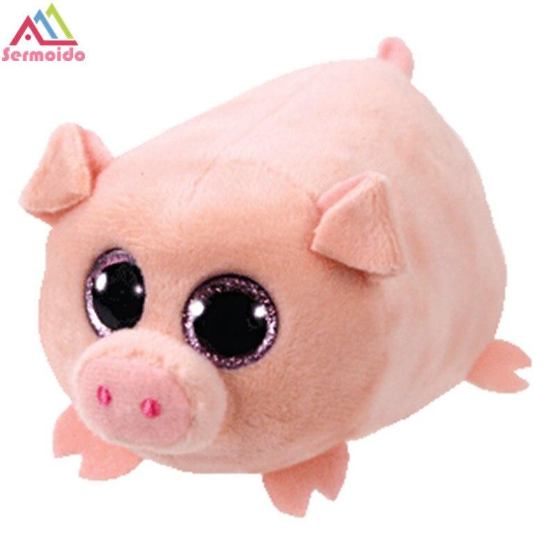 Sermoido ty Teeny тыс Beanie Боос 4 Teeny тыс плюшевые-вьющиеся-свинья tuffed животного ty большой Средства ухода для век плюшевые игрушки куклы подарок для м...