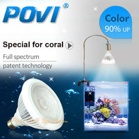 POVI Aquarium Led Lighting Full Spectrum Led Coral Reef Grow Light Lamp LED Bulbs Par38 30W
