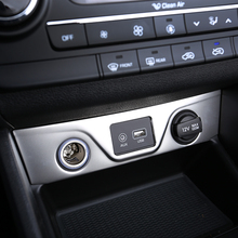 Для hyundai Tucson 2015 2016 2017 2018 салона прикуриватель USB Порты и разъёмы крышка отделка Стикеры литья украшения аксессуары