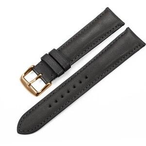 Image 3 - Isap 18mm 19mm 20mm 21mm 22mm pulseira de relógio de couro genuíno pulseira de relógio com rosa ouro pino fivela para tissot omega iwc