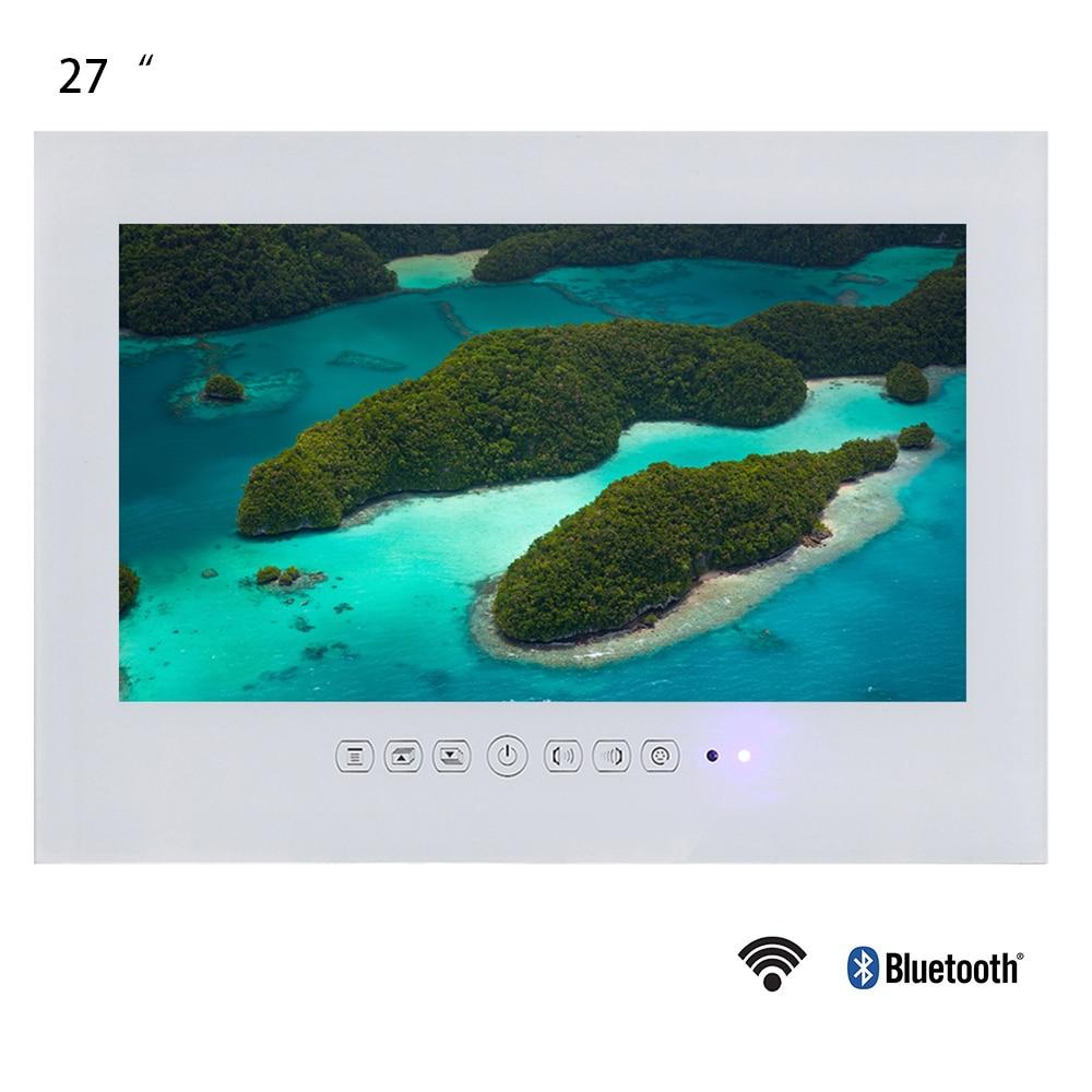 Souria 27 inch 1080P Full HD WiFi Android 9 0 Smart Internet Waterproof bathroom TV Black Innrech Market.com