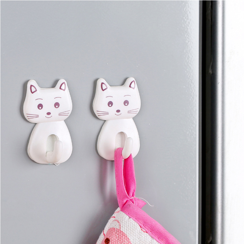 3pcs Cat Hook Strong Adhesive Hook Refrigerator Kitchen Bathroom Wall No-trace Hooks for Towel Apron Dropshipping3pcs Cat Hook Strong Adhesive Hook Refrigerator Kitchen Bathroom Wall No-trace Hooks for Towel Apron Dropshipping