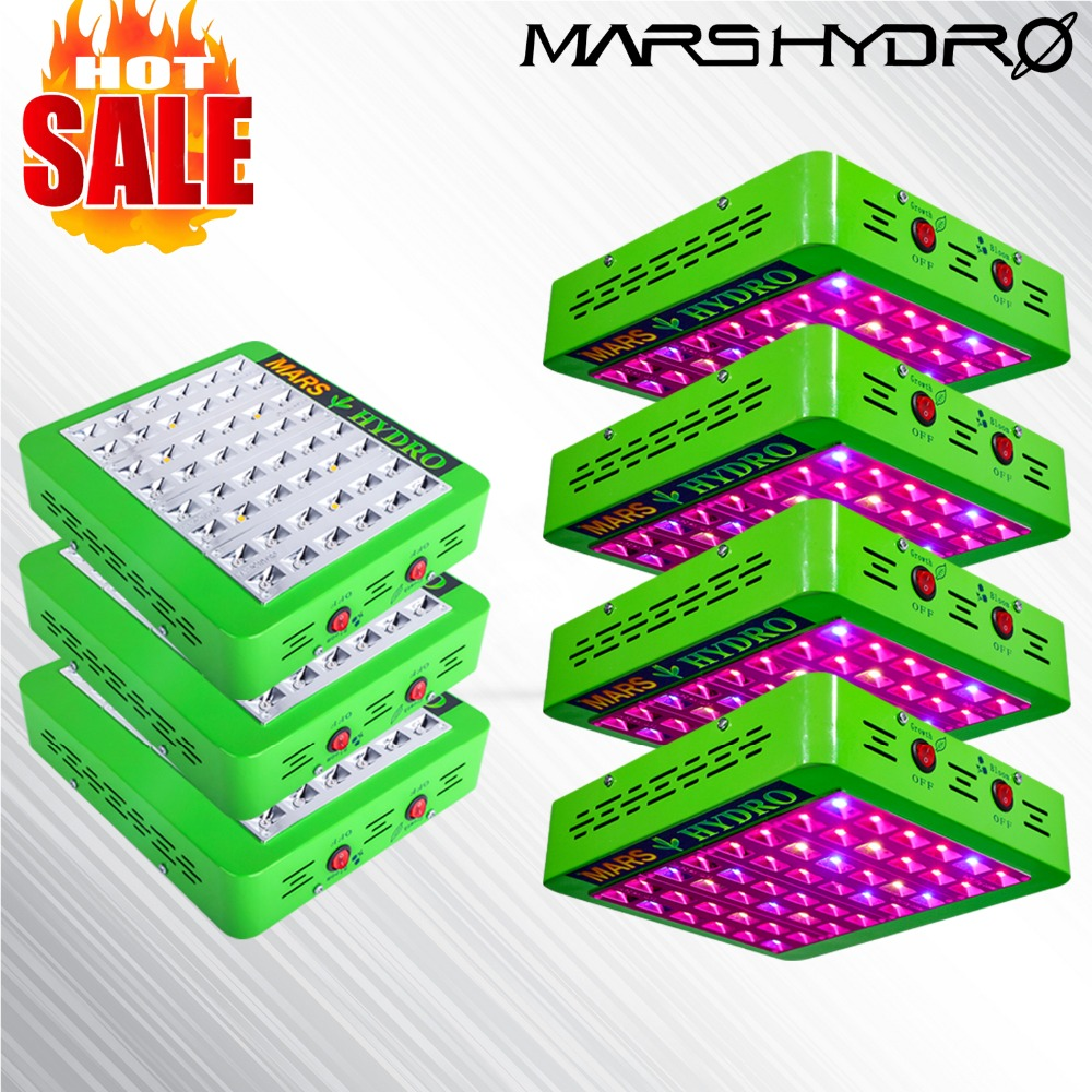 7PCS Mars Hydro Reflector 240W LED Grow Light/Lamp Ful spectrum For Hydroponics&Medical Plants