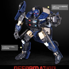 The Last Knight Police Action Figure Car Toys Deformation Robot Children Gifts Transformation Black Mamba 4th party masterpiece movie series mpm 05 barricade transformation action figure police mode collection ko robot toys boys gift