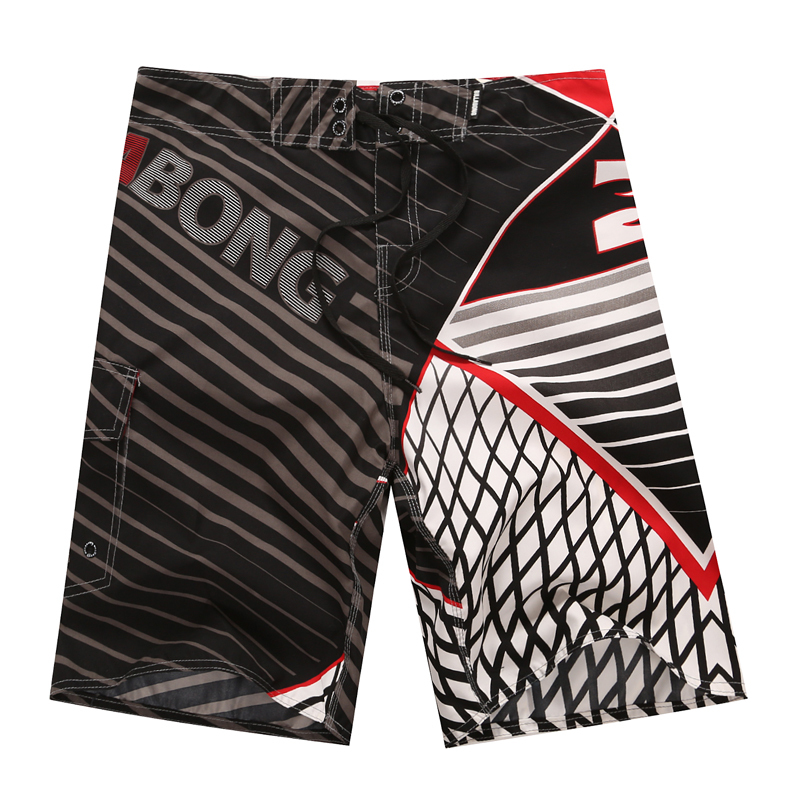 Brand Summer Quick Dry   Board     Shorts   Striped Mens Polyester Swim Surfing Beach   Shorts   Fitness Gym Water Sportswear Swimming
