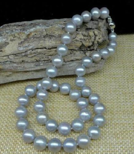 BEAUTIFUL 10-11mm south sea gray natural pearl necklace 18 inch white ball CLASP>>> women jewerly Free shippingBEAUTIFUL 10-11mm south sea gray natural pearl necklace 18 inch white ball CLASP>>> women jewerly Free shipping