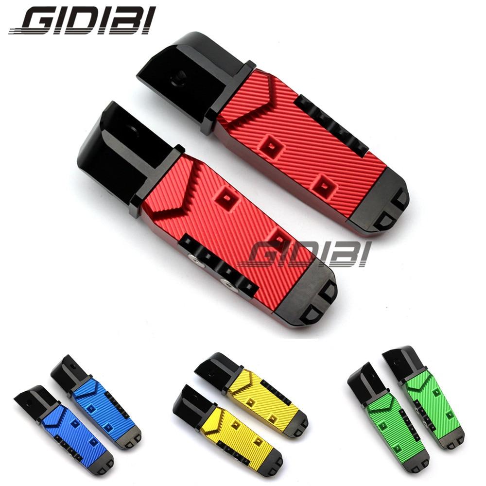 For kawasaki Z750 Z800 Z900 Z1000 Z1000SX CNC 3D Rear Footrest Foot Pegs Rest Pedals Motorcyle