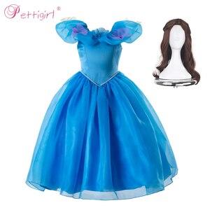 Image 2 - Pettigirl 공주 코스프레 우아한 여자 드레스 신데렐라 드레스 꽃 파티 의상 아이 옷 2020 GD50613 3