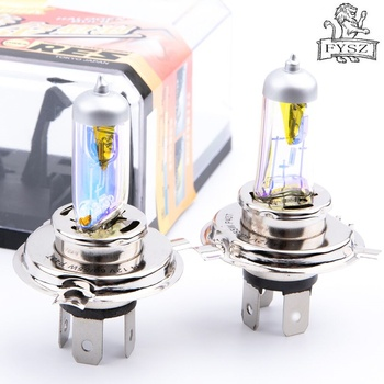2Pcs H4 9003 55W 3000k Car halogen head Fog lamps Auto 3000K headlight motive light bulb fog light rain fog snow golden light ocsion 2pcs r3b car led headlights h1 headlight bulbs 3000k golden yellow real 24w per bulb 3000lm motorcyle fog lamp auto light