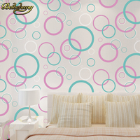 beibehang Circle Curve Stripe embossed metallic wallpaper roll modern dining room PVC background wall wallpaper for living room