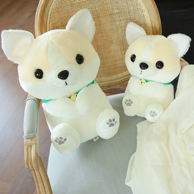 1pc 30cm Kawaii Corgi Dog Plush Toys Cute Staffed Cartoon Animal