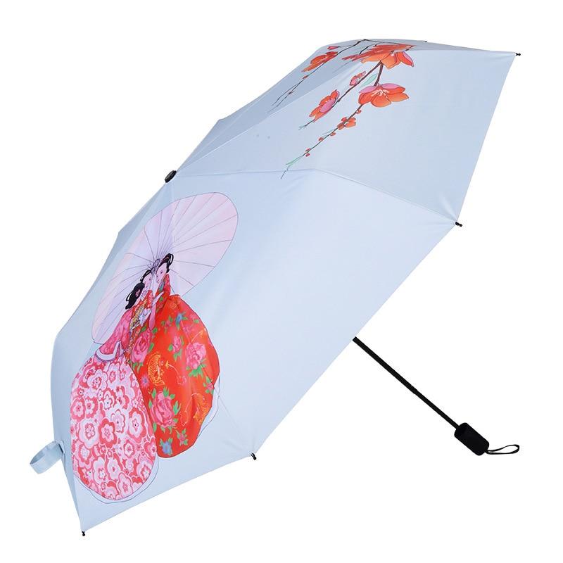 YADA Girlfriends Charms DIY Umbrella Rain Women uv High Quality Umbrella For Womens Windproof Folding Friendship Umbrellas YS102 in Umbrellas from Home Garden