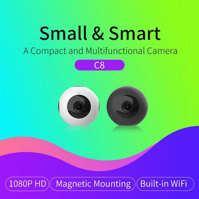 HD vidéo 1080 P caméra sans fil Wi-fi vidéo Surveillance nuit sécurité Mini caméra réseau intérieur bébé moniteur Meisort C8
