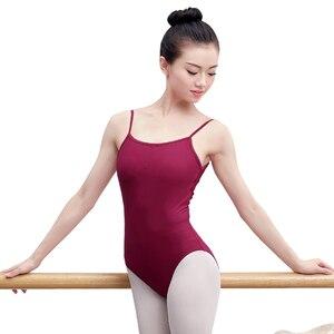 Image 4 - Sexy Open Back Mouwloos Hemdje Ballet Maillots Volwassen Meisjes Katoen Spandex Gymnastiek Turnpakje Ballerina Bodysuit