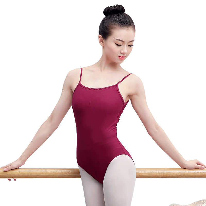 88356d3abf ... Sexy Open Back Sleeveless Camisole Ballet Leotards Adult Girls Cotton  Spandex Gymnastics Leotard Ballerina Bodysuit ...