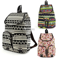 European And American National Women Canvas Backpack Leisure Women Bags Free Shipping