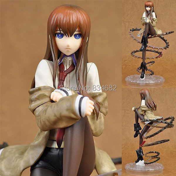 J.G Chen Free Shipping Cool 9 Steins Gate Makise Kurisu 1/8 Scale PVC Action Figure Collection Model Toy Christmas Toys Gifts free shipping hello kitty toys kitty cat fruit style pvc action figure model toys dolls 12pcs set christmas gifts ktfg010