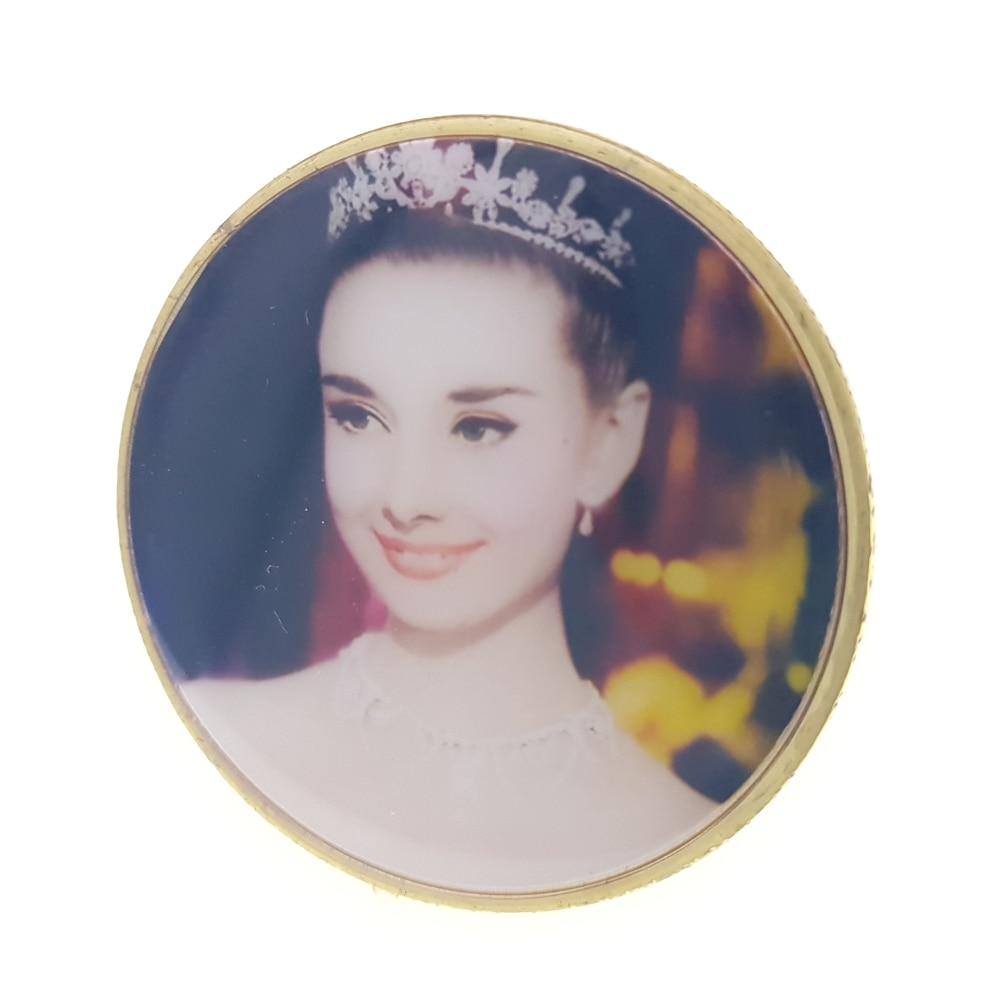 Commemorative Coin Collection Medal Souvenir Badge Coins Anniversary Vacances Princess Audrey Hepburn Coins Crown Italy Star